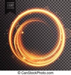 doré, effet lumière, fusée objectif, transparent, circulaire