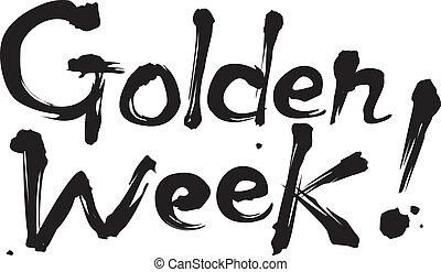 doré, fetes, semaine, japon