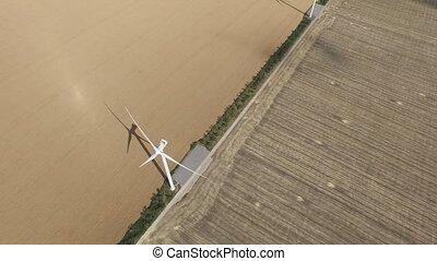 doré, générer, fields., énergie, turbines, enquête, lot, aérien, vent
