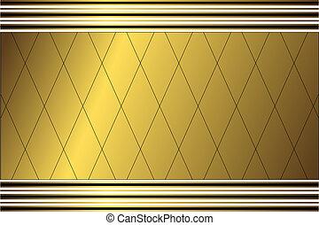 doré, géométrique, fond