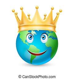 doré, globe, couronne