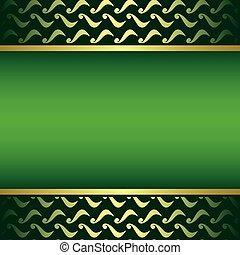 doré, gradient, -, vecteur, vert, carte