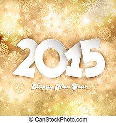doré, heureux, nouveau, fond, année