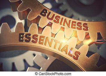 doré, illustration., business, cogwheels., essentiel, 3d