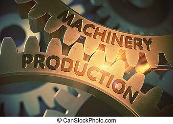 doré, illustration., concept., production, machinerie, gears., 3d
