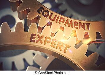 doré, illustration., expert, concept., équipement, gears., 3d