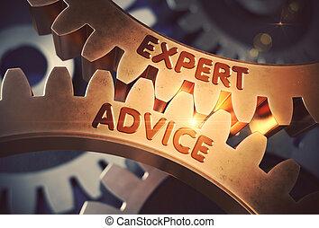 doré, illustration., expert, concept., cogwheels., conseil, 3d