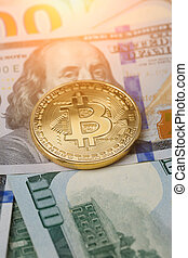 doré, image, bitcoin, dollars