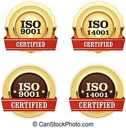 doré, iso, 9001, certifié, médailles