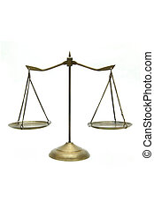 doré, laiton, balances justice, blanc