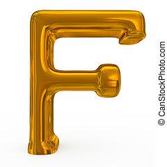 doré, lettre f