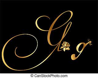 doré, lettre g