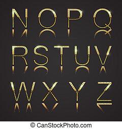 doré, lettres