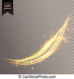 doré, lumière, résumé, effet, ondulé, fond