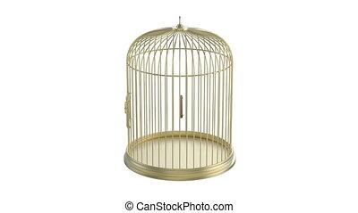 doré, mettez cage oiseau