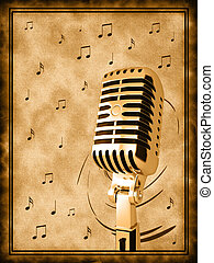doré, microphone