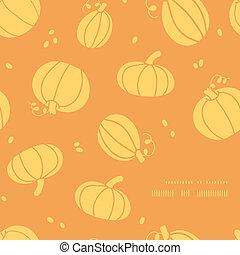 doré, modèle, cadre, thanksgiving, potirons, fond, coin