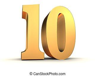 doré, -, numéro 10