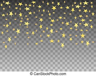 doré, objets, illustration, vecteur, étoiles, tomber