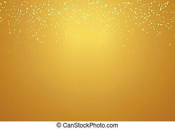 doré, or, gradient, résumé, texture, lumières, lighting., fond, tomber, scintillement
