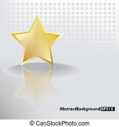 doré, résumé, étoile, fond