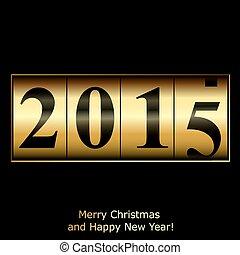 doré, résumé, compteur, nouvel an