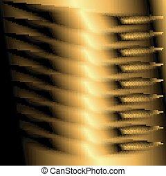 doré, résumé, fond, lumière
