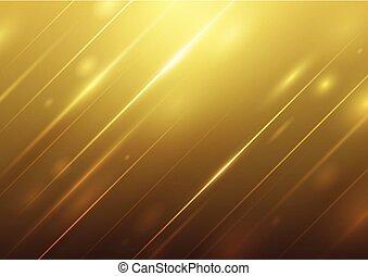 doré, résumé, luxe, fond, lumière