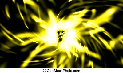 doré, rayons, brûler, lumière, tunnel, trou