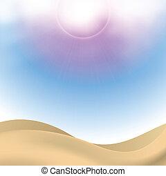 doré, sables, ciel, mignon