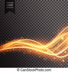 doré, scintillement, effet, transparent, lumière
