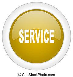 doré, service, toile, mobile, app, illustration, bouton, conception, lustré, icône, rond