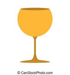 doré, silhouette, cocktail, couleur, boisson, verre