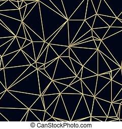 doré, triangle, lignes, illustration, sombre, vecteur, fond