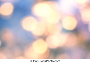 doré, twinkled, fête, bokeh, barbouillage, lights., fond, defocused, noël, naturel