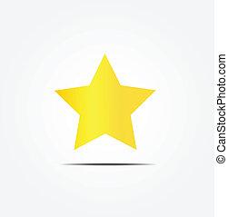 doré, vecteur, étoile, icône