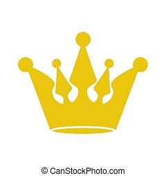 doré, vecteur, image, couronne, illustration, redevance, stockage, icône