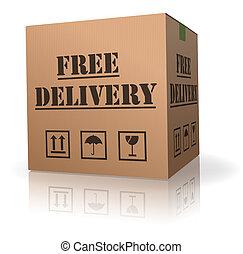 doręczenie, wolny, klasa, wysyłka, pakunek