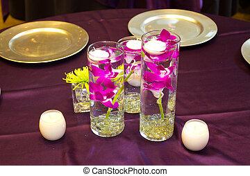 dor, 花, 招待會, 婚禮
