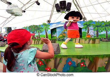 Dora the Explorer - GOLD COAST, AUS - NOV 06 2014:Litlle...