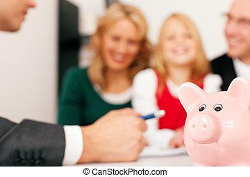 doradca, -, finanse, rodzina, ubezpieczenie