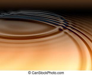 dorado, aceitoso, líquido, ondas