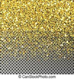 dorado, aislado, vector., navidad, estrella, transparente, ...