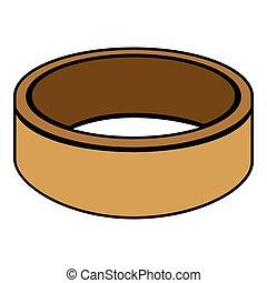 dorado, anillo, aislado