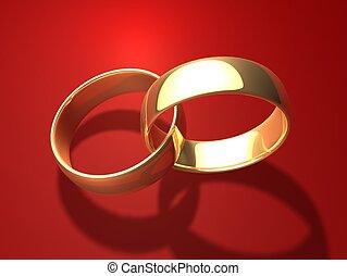 dorado, anillos