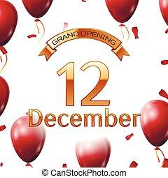 dorado, apertura, diciembre, magnífico, ilustración, aire,...