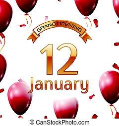 dorado, apertura, enero, magnífico, ilustración, aire,...
