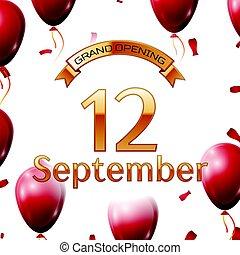 dorado, apertura, septiembre, magnífico, ilustración, aire,...