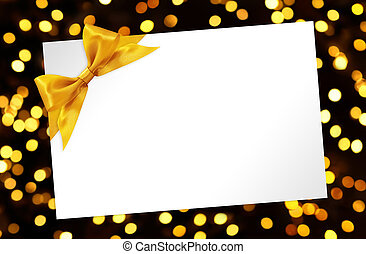 dorado, arco, luces, Plano de fondo, blanco, tarjeta