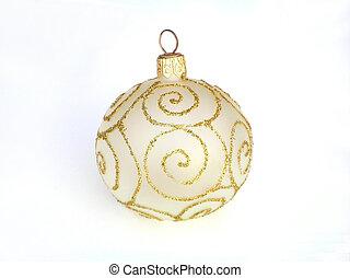 dorado, bauble de navidad